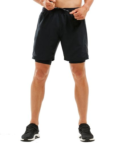 2XU 7 Inch 2 in 1 - Shorts - Svart (MR5966b-M)