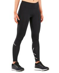 2XU Run Mid-Rise Dash Comp Women - Tights - Svart/Sølv