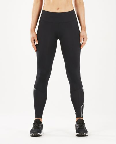 2XU Run Mid-Rise Dash Comp Women - Tights - Svart/ Sølv (WA5988b-MT)