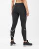 2XU Run Mid-Rise Dash Comp Women - Tights - Svart/ Sølv (WA5988b-LT)