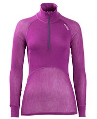 Brynje Lady Wool Thermo Zip Polo - Trøye - Lilla (10151215BV)
