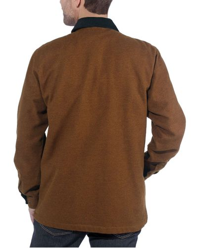 Carhartt Pawnee Zip - Skjorte - Oiled Walnut (104074213)