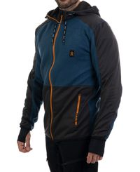 Bula Fleece Zip Hood - Jakke - Blå
