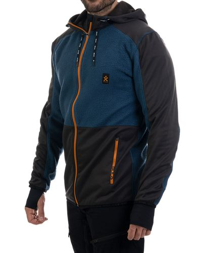 Bula Fleece Zip Hood - Jakke - Blå (720568-DENIM)