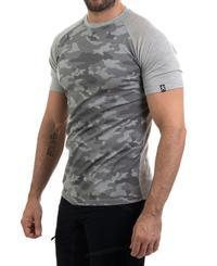 Bula Camo Merino Wool - T-skjorte - Grå (720613-GREYM)