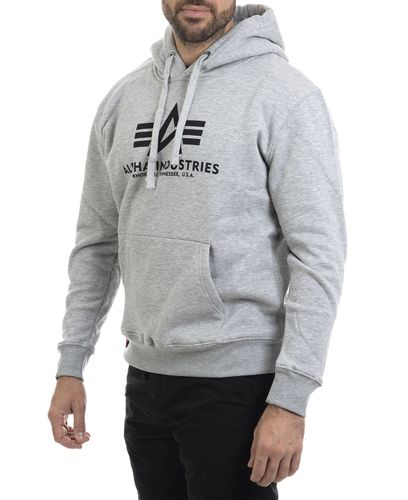 Alpha Industries Basic - Hettegenser - Grå (193178312-17)
