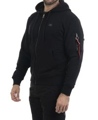 Alpha Industries X-Fit Zip - Hettegenser - Svart (193158322-03)