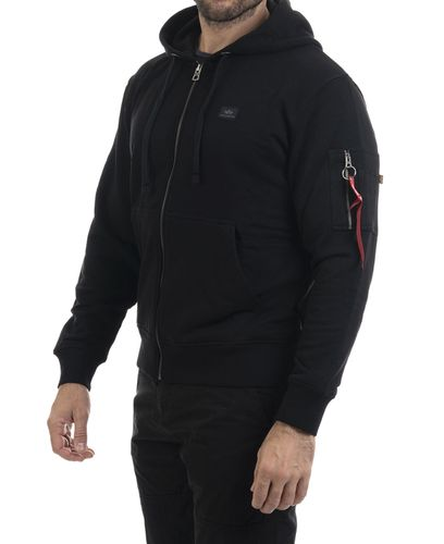 Alpha Industries X-Fit Zip - Hettegenser - Svart (193158322-03-S)