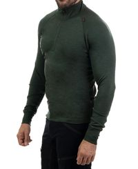Tufte Wear Bambull Half-Zip - Trøye - Deep Forest (1002-033)