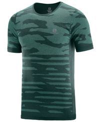 Salomon XA Camo - T-skjorte - Green Gables/Heather