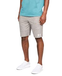 Under Armour Sportstyle Terry - Shorts - Onyx White