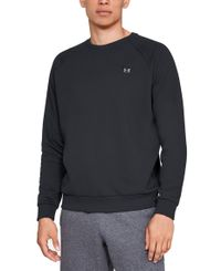 Under Armour Rival Fleece Crew - Genser - Svart (1320738-001)