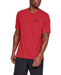 Under Armour Sportstyle Left Chest - T-skjorte - Rød (1326799-600)