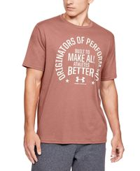 Under Armour Make All Athletes Better - T-skjorte - Cedar Brown (1352041-226)