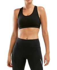 2XU Perform Medium Impact Crop Womens - Sports-BH - Svart (WR6116a)