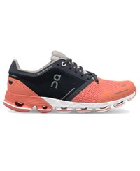 On Cloudflyer Womens - Sko - Salmon/Ink