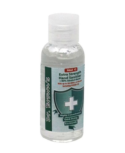 Dr Brown Hand Sanitiser Gel 50ML - Hånddesinfeksjon (CL901)