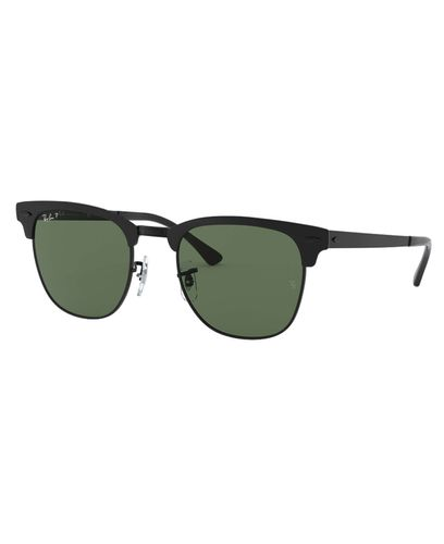 RAY-BAN Clubmaster Metal - Solbriller - Green Polarized - 51 (RB3716-186/58-51)