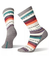 Smartwool W Hike Light Margarita Crew - Sokker - Medium Gray (B01396)