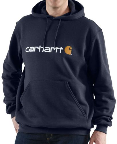 Carhartt Signature Logo Hooded - Hettegenser - New Navy (100074472)