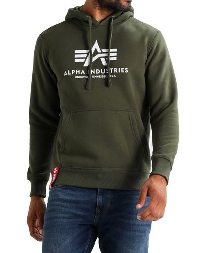 Alpha Industries Basic Hoody - Hettegenser - Dark Green (178312-257)