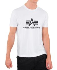 Alpha Industries Basic T - T-skjorte - Hvit (100501-09)