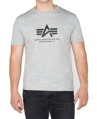 Alpha Industries Basic T - T-skjorte - Grå (100501-17)