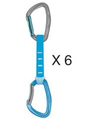 Petzl Pack Of 6 Djinn Axess - 12 Cm - Blå