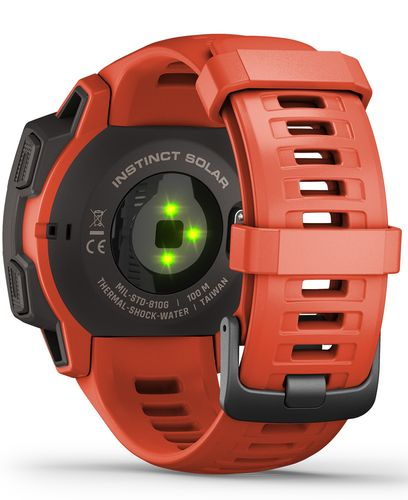 GARMIN Instinct Solar - Klokke - Flame red (010-02293-20)