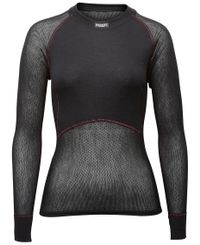 Brynje Lady Wool Thermo Light - Trøye - Svart (10140301bl)
