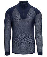 Brynje Super Thermo Zip Polo w/inlay - Trøye - Marineblå (10201205na)