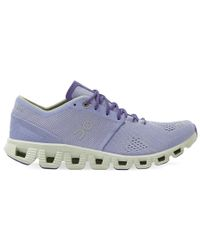 On Cloud X Womens - Sko - Lavender/Ice