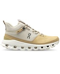 On Cloud Hi Womens - Sko - Pearl/Camel