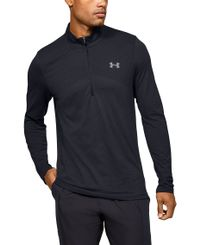 Under Armour Seamless 1/2 Zip - Trøye - Black/Mod Gray (1351452-001)