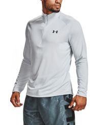 Under Armour Tech 2.0 1/2 Zip - Trøye - Halo Gray/ Pitch Gray (1328495-015)