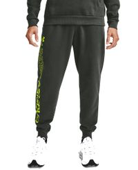 Under Armour Rival Fleece Graphic Joggers - Bukse - Baroque Green/ Green Citrine (1357130-310)