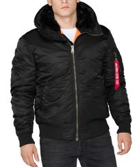 Alpha Industries MA-1 Hooded - Jakke - Svart