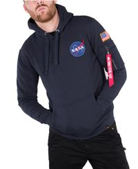 Alpha Industries Space Shuttle - Hettegenser - Blå (178317-07)