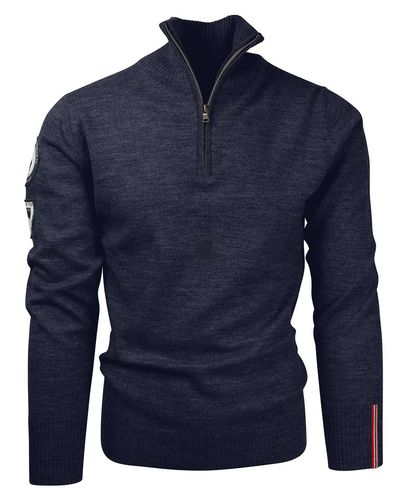 Amundsen Peak Half Zip - Genser - Faded Navy (MSW02.2.590)