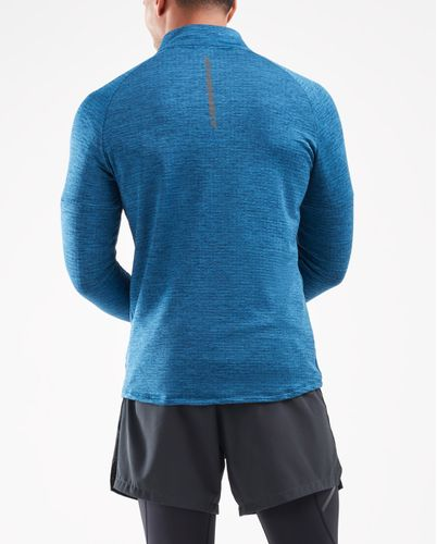 2XU Pursuit Thermal 1/4 Zip - Trøye - Poseidon/ Silver Reflective (MR6231a-PO)