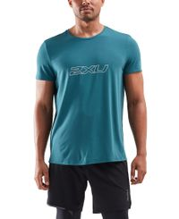 2XU Contender - T-skjorte - Dark Sage/ White (MR6243a-DS)
