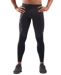 2XU Wind Defence Comp - Tights - Black/ Striped Silver Reflective (MA6311b)