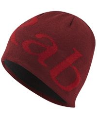 Rab Logo Beanie -  - Lue - Oxblood Red - (QAA-09-OR)