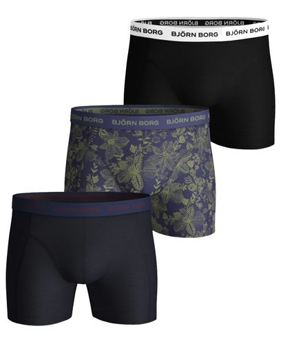 Björn Borg BB Fiji Flower 3pk - Boxershorts - Crown Blue (2031-1042-70121)