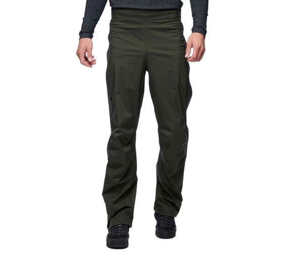 Black Diamond Stormline Stretch Full Zip Rain - Bukse - Cypress (APZ9LC-CY)
