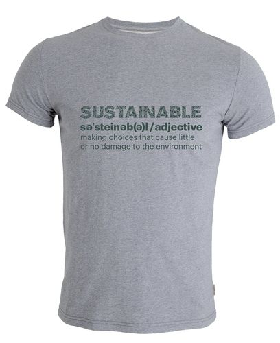 Tufte Wear Mens ECO Sustainabili-Tee - T-skjorte - Grey Melange (1031-006-XL)