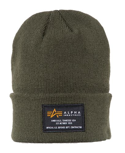 Alpha Industries Crew - Lue - Dark Green (128924-257)