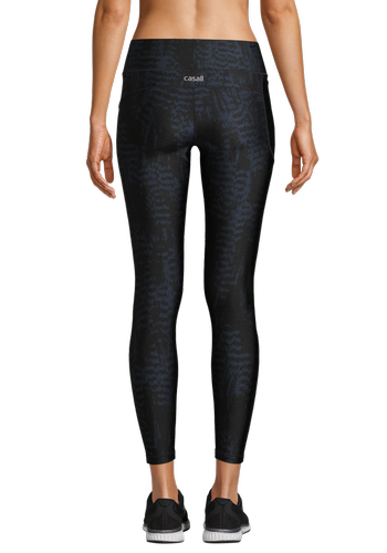 Casall Iconic Printed 7/8 - Tights - Survive Dk Green (21501-187)