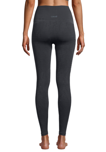 Casall Shiny Alligator Seamless - Tights - Shadow Grey (21610-216)