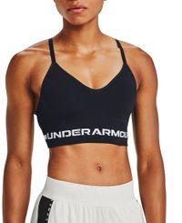 Under Armour Seamless Low Long W - Sports-BH - Svart (1357719-001)